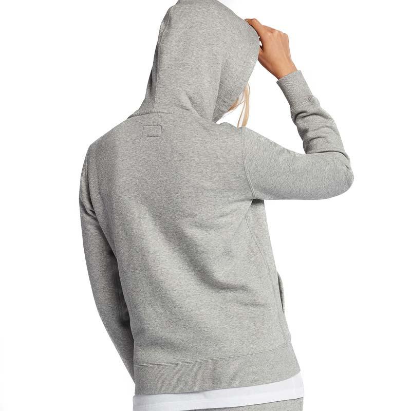 Converse damská mikina Full Zip Vintage Grey back