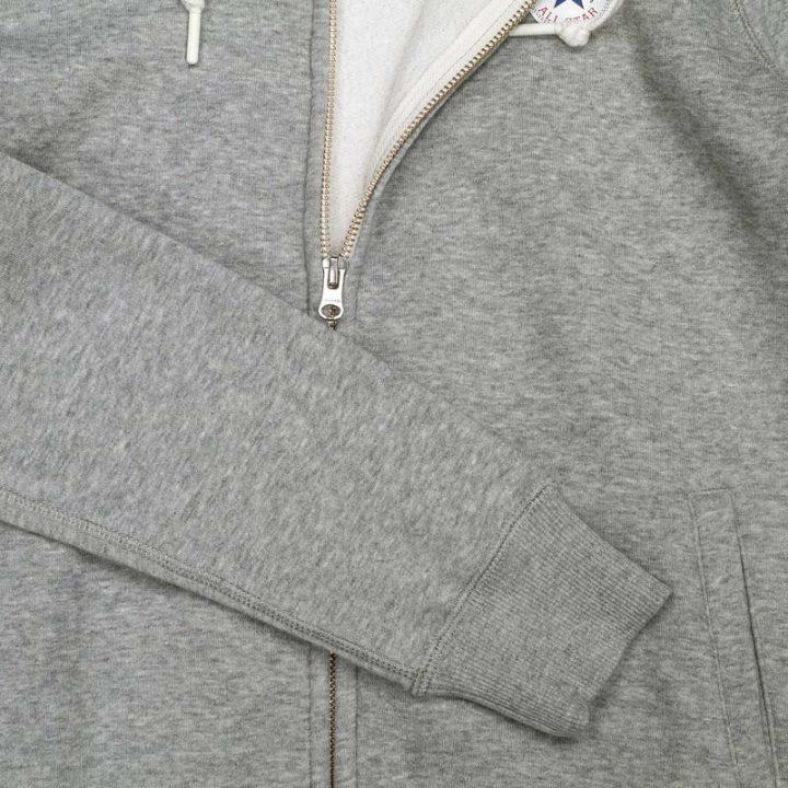 Converse damská mikina Full Zip Vintage Grey detail