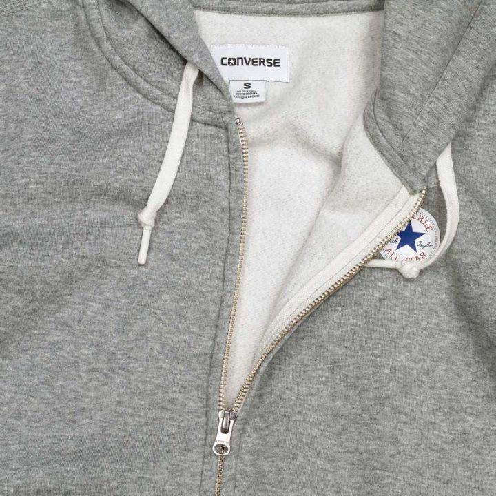 Converse damská mikina Full Zip Vintage Grey logo