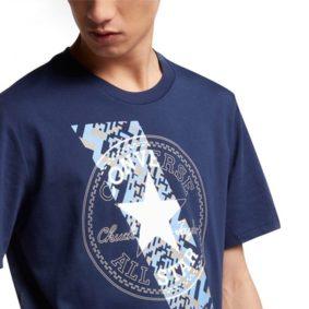 Converse pánské tričkoChuckpatch Contrast Slash Tee Navy main