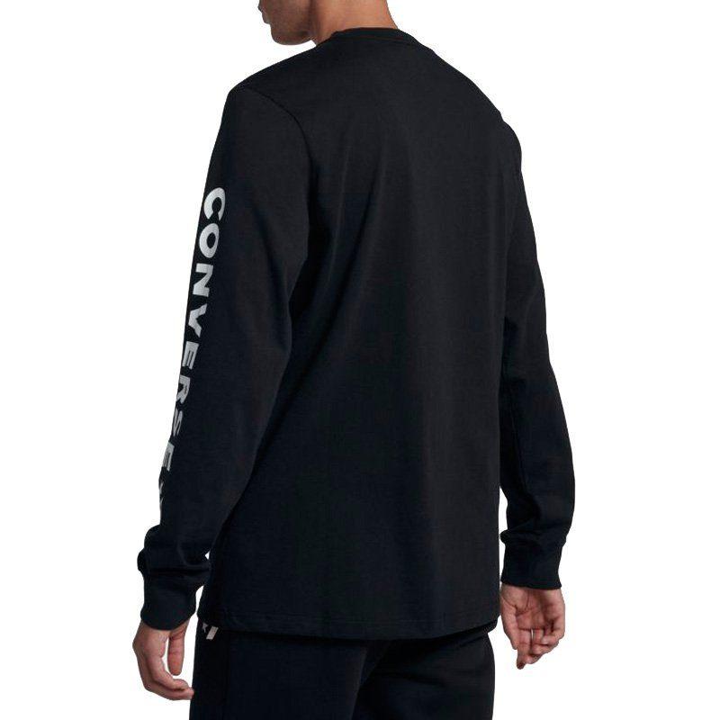 Converse tričko Star Chevron Wordmark Mens Long Sleeve T-Shirt angle
