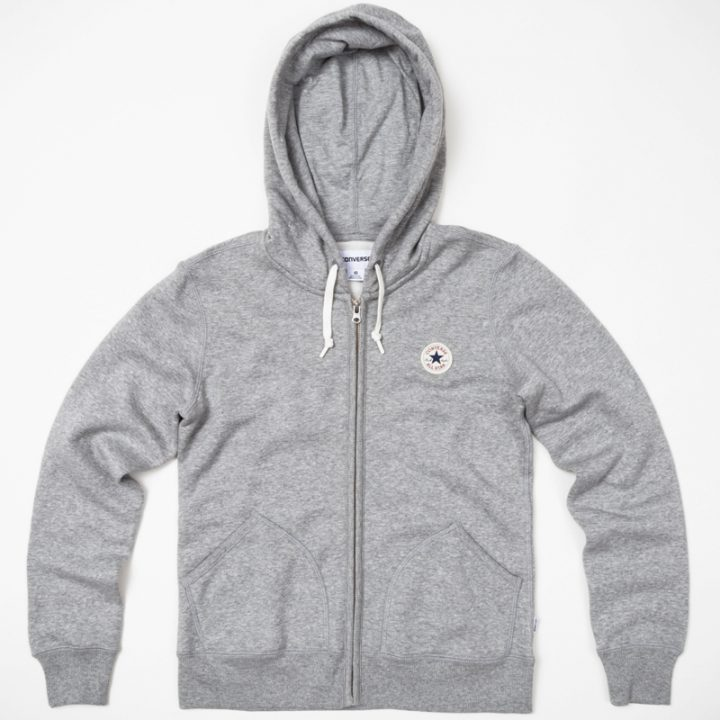Mikina Converse Core Vintage Grey Fleece
