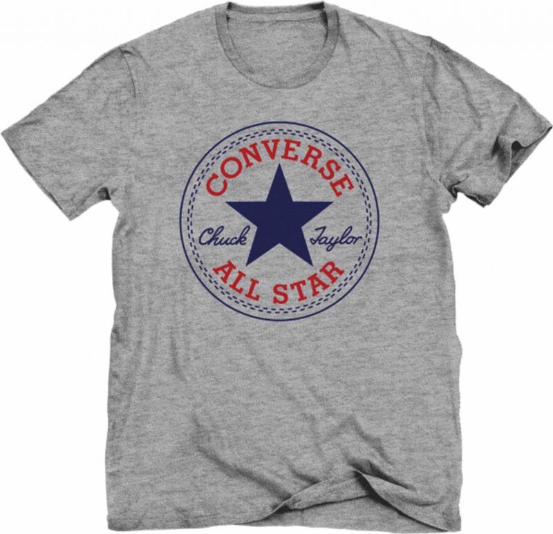 triko Converse Core Crew Tee Vintage Grey Heather