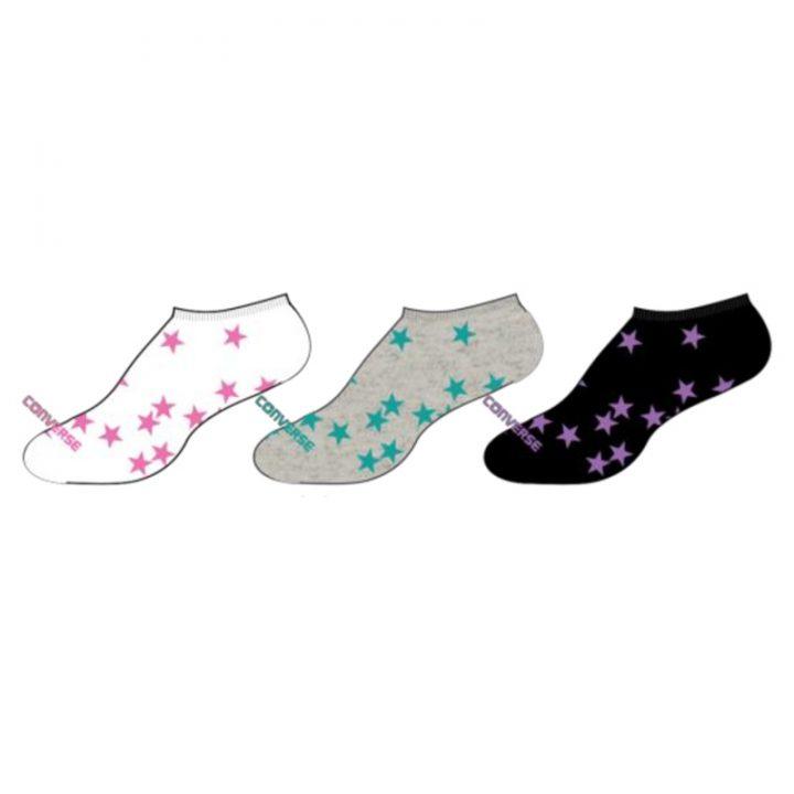Converse dámské ponožky Tosses Stars no show tri