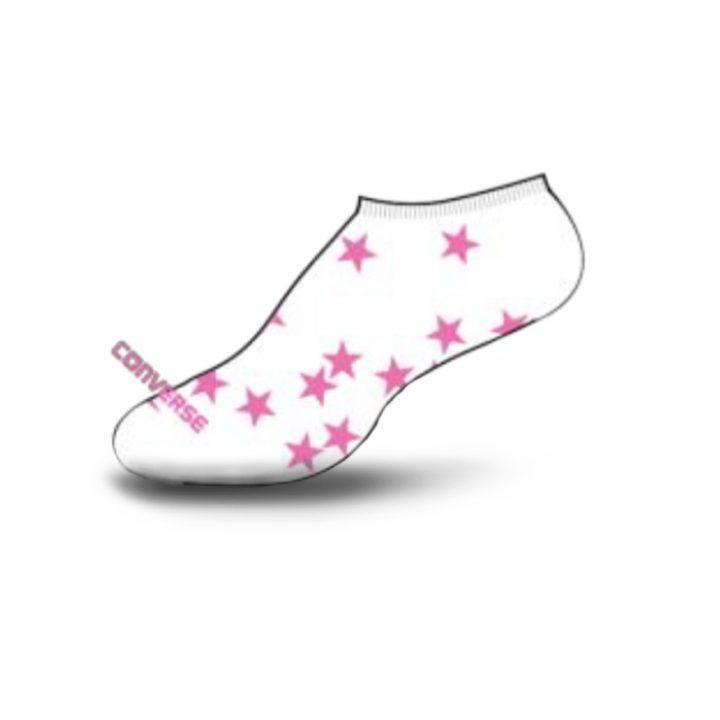 Converse dámské ponožky Tosses Stars no show white
